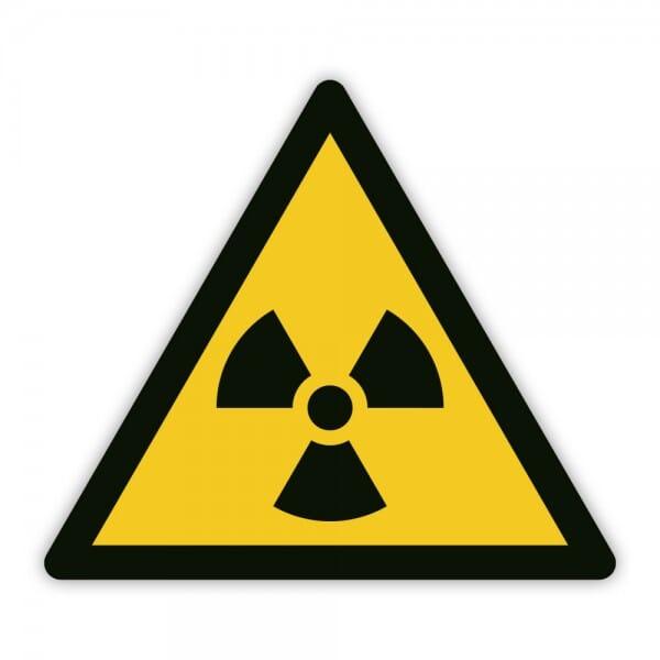 Warnaufkleber vor radioaktiven und ionisierenden Strahlen