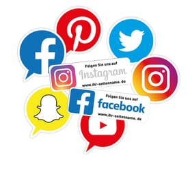 Social-Media Aufkleber