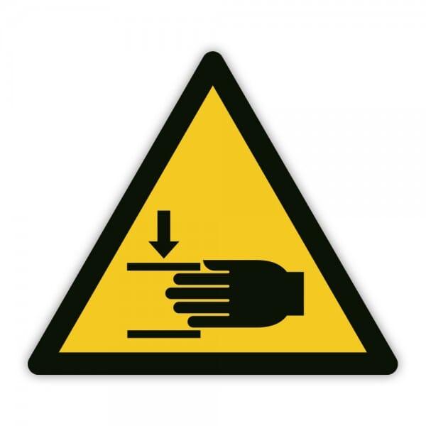Warnaufkleber vor Handverletzungen