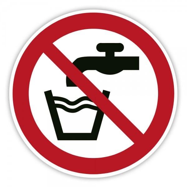 Verbotschild Kein Trinkwasser