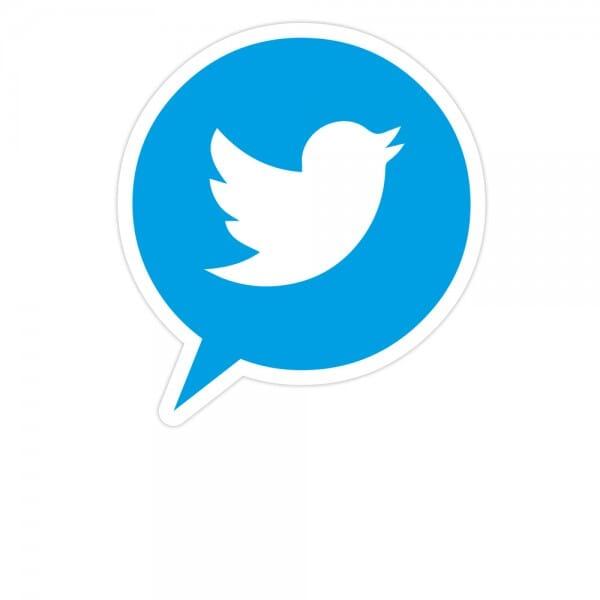 Social-Media Aufkleber Twitter - Set (3 Bögen / 84 Stück - 200x300 mm)