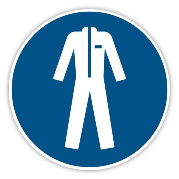 Gebotaufkleber Schutzkleidung benutzen