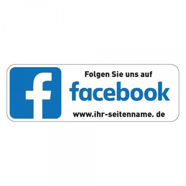 Social-Media Aufkleber Facebook individuell - Set (2 Bögen - 72 Stück - 200x300 mm)