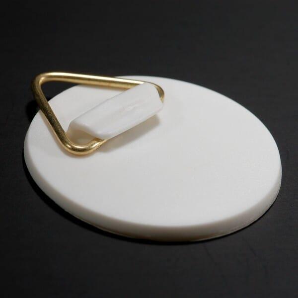 Klebeaufhänger aus Kunststoff Ø 60 mm bis 1,2 kg