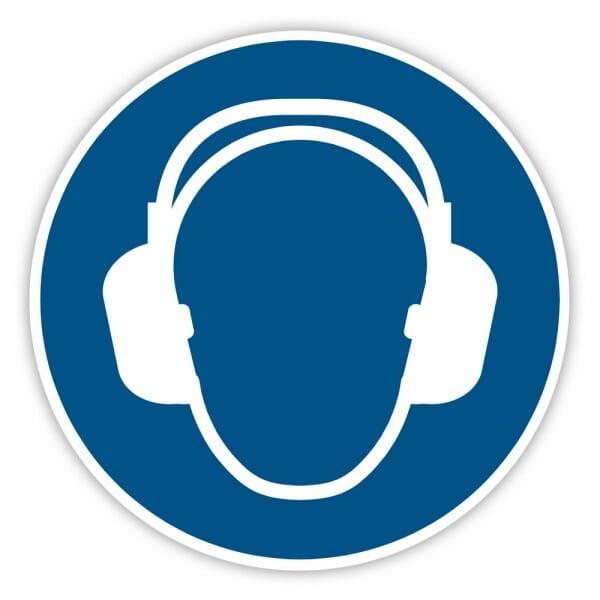 Gebotaufkleber Gehörschutz benutzen