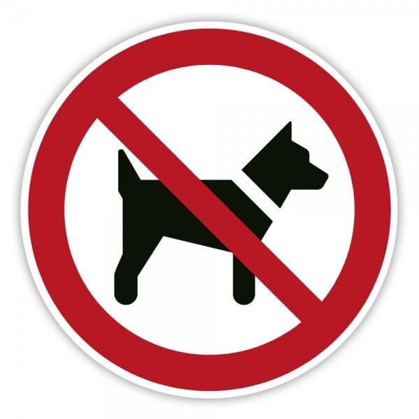 Verbotschild Mitführen von Hunden verboten