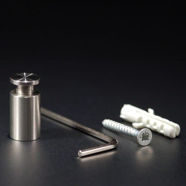 Abstandhalter Edelstahl VA roh Ø 10 mm WA:15 mm PS: 2-10 mm