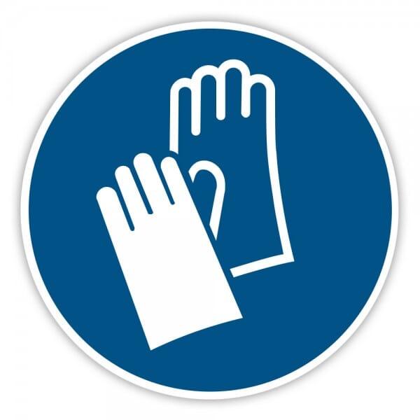 Gebotaufkleber Handschutz benutzen