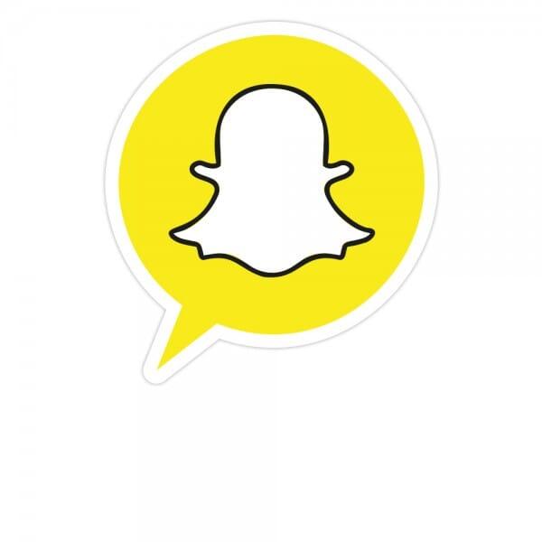 Social-Media Aufkleber Snapchat - Set (3 Bögen / 84 Stück - 200x300 mm)