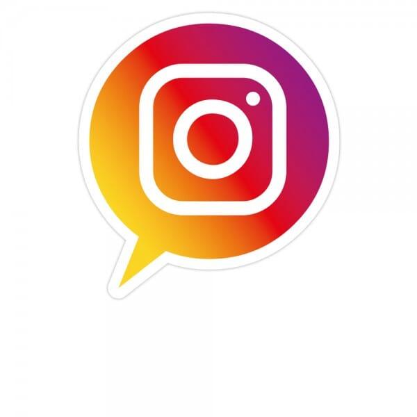 Social-Media Aufkleber Instagram - Set (3 Bögen / 84 Stück - 200x300 mm)