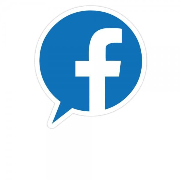 Social-Media Aufkleber Facebook - Set (3 Bögen / 84 Stück - 200x300 mm)
