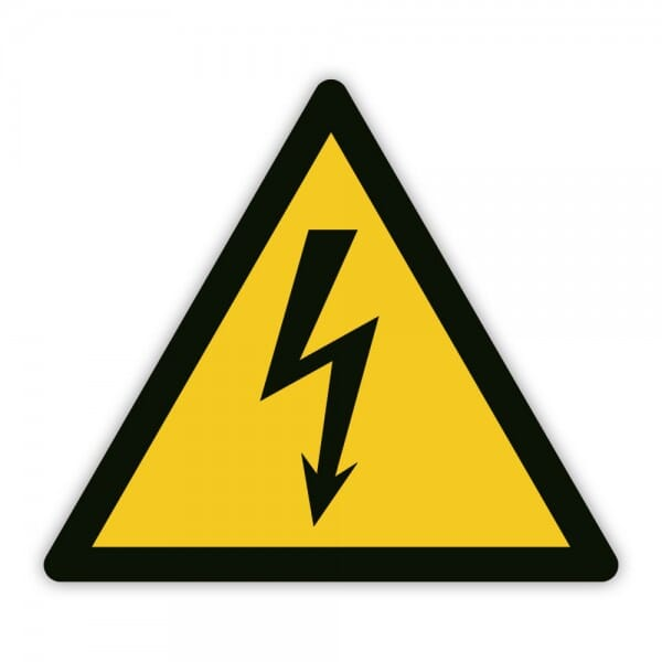 Warnaufkleber vor gefährlicher elektrischer Spannung