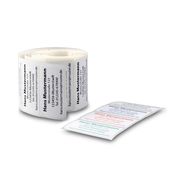Adress-Etiketten 51x25 mm 250 Stück (Rollenetikett) 4-farbig 1200 dpi