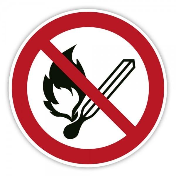 Verbotsschild Keine offene Flamme