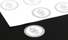 Individuelle Digitaldruck-Aufkleber