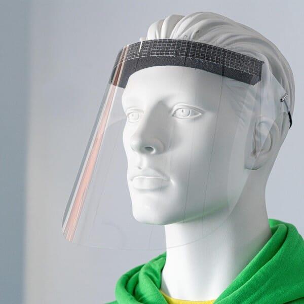 10 Stück Gesichtsschutz Visier PET hochtransparent