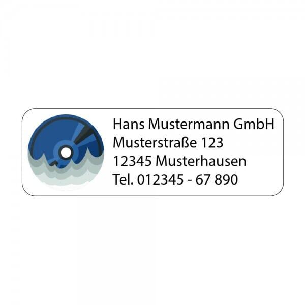 Adressaufkleber CD